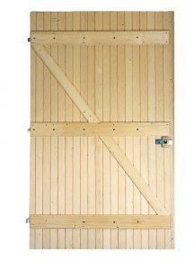 Porte de garage 2 vantaux barres et écharpes larges