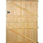 Porte de garage 2 vantaux barres et écharpes variante écurie