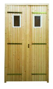 """Porte de service à 2 vantaux (Option """"hublots rectangulaire"""")"""